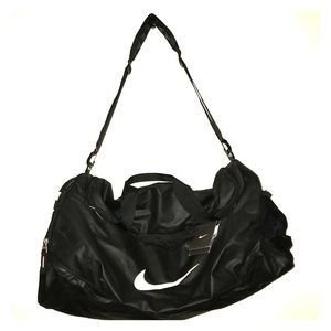 Nike Bags - NWT NIKE Team Training Max Air Black Duffel Bag 033af6667b46d